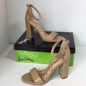 Sam Edelman Nude Leather Women's Heels Sandals